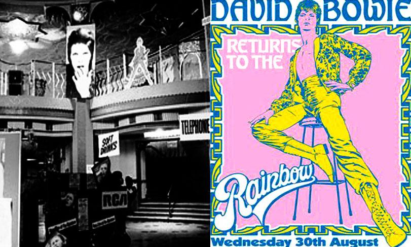 David Bowie en el Rainbow, 1972